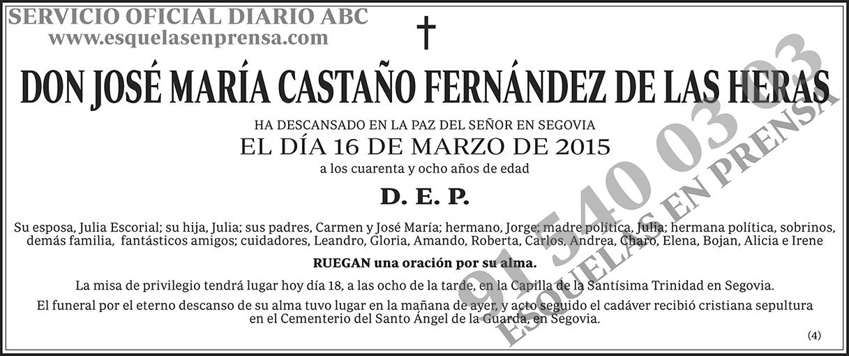José María Castaño Fernández de las Heras